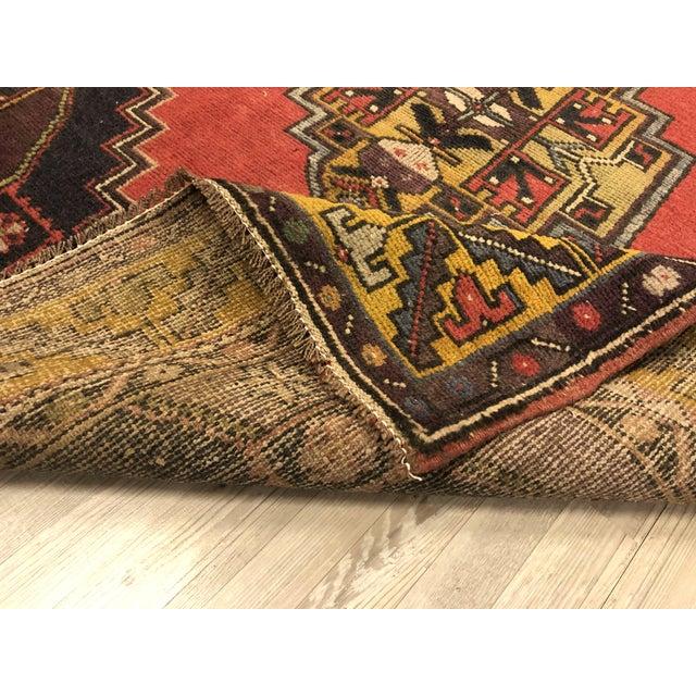 Vintage Oushak Handmade Rug-3′8″ × 6′3″ For Sale - Image 4 of 7