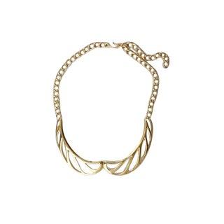 Monet 80s Goldtone Collar Necklace For Sale