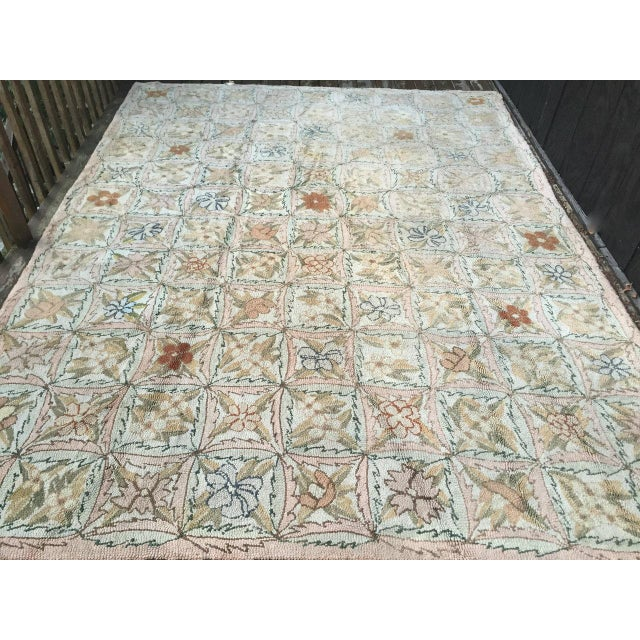 Cottage Treasure Chest Mutual Hand-Hooked Rug - 9' x 12' For Sale - Image 3 of 11