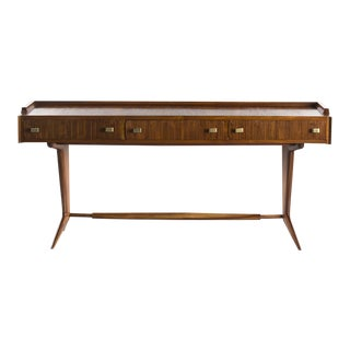 Italian Mid Century Three Drawer Desk For Sale