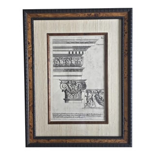 Classical Elements of Architecture Print Plate #34 For Sale