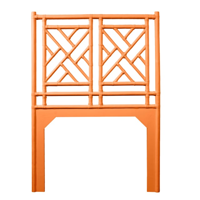 Chippendale Chippendale Headboard Twin - Orange For Sale - Image 3 of 3