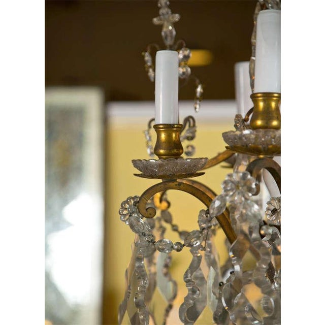 Late 19th Century Crystal and Bronze Chandelier For Sale - Image 5 of 6