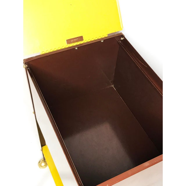 1970s Mid-Century Modern Wp Johnson Hanging Filing Cabinet on Wheels For Sale - Image 4 of 5