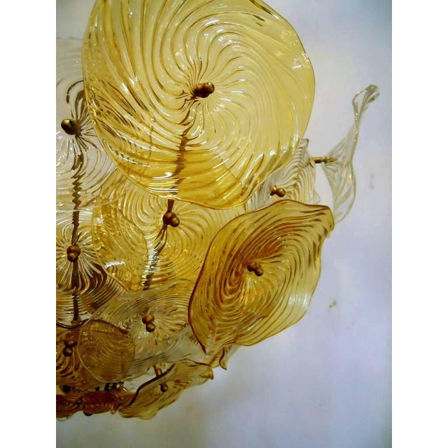 Italian Italian Murano Glass Discs Chandelier For Sale - Image 3 of 5