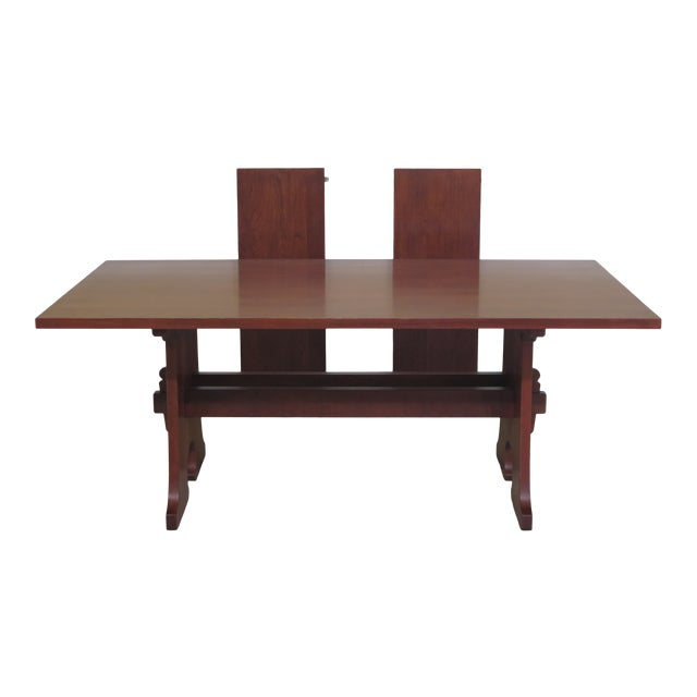 1990s Vintage Stickley Cherry Mission Style Cherry Dining Room Table
