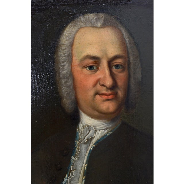 Finely detailed portrait of a gentleman. The painting is very detailed and shows the artist had a great deal of talent....