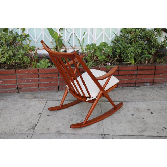 Teak Danish Teak Rocking Chair by Reenshang for Bramin For Sale - Image 7 of 9