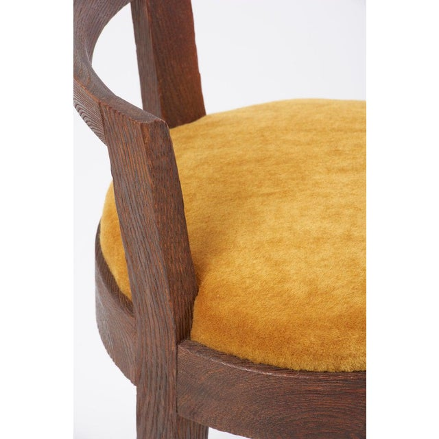1940s One of Two Pairs Art Deco Stools by Francisque Chaleyssin, France For Sale - Image 5 of 12