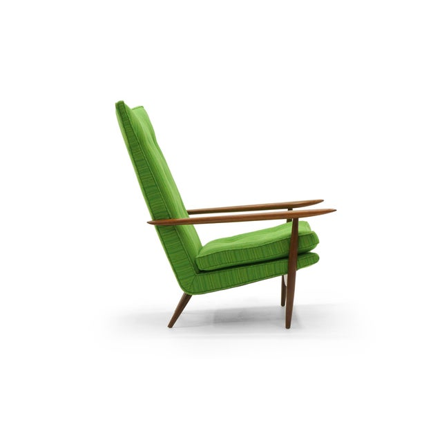 1950s Rare George Nakashima for Widdicomb High Back Lounge Chair and Ottoman For Sale - Image 5 of 11