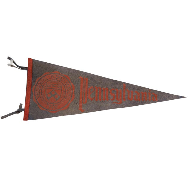 Vintage 1950s Pennsylvania University Large Felt Pennant For Sale