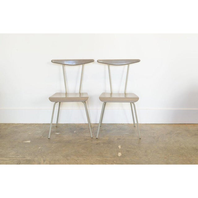 Mid-Century Modern Pair of Light Gray Dressboy Chairs, Wim Reitveld 1950's For Sale - Image 3 of 5