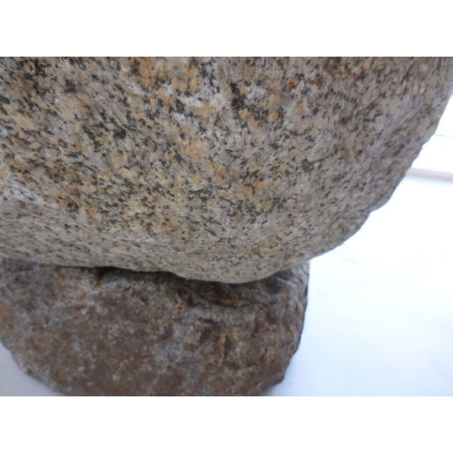 Round Japanese Stone Trough on Base For Sale - Image 10 of 10