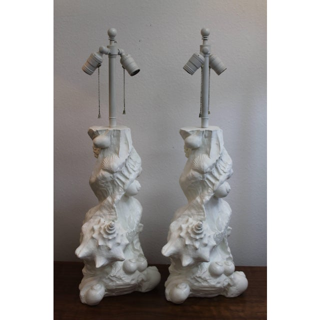 Nautical Pair of White Nautical Lamps by Sirmos For Sale - Image 3 of 8