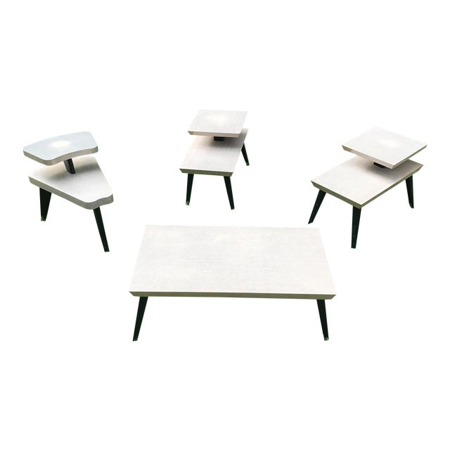 Vintage Atomic Coffee Table & End Tables - Set Of 4