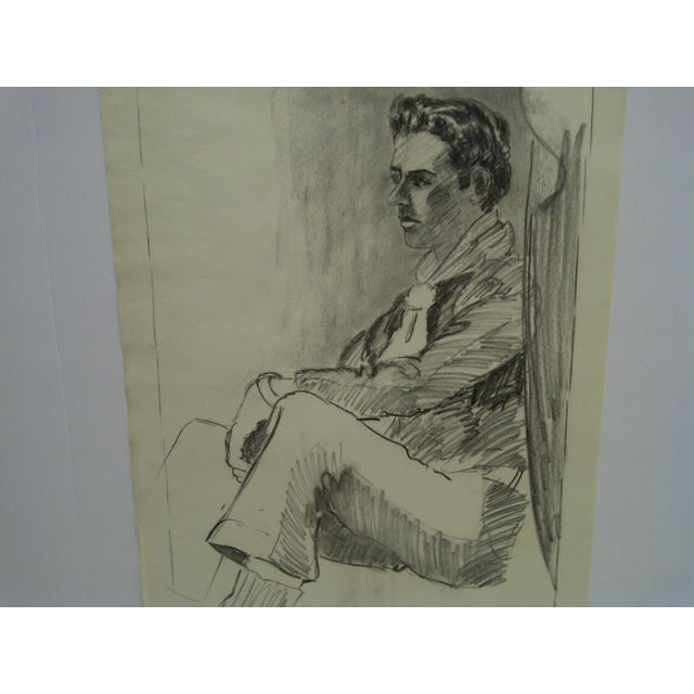 "Original Drawing Sketch Deep in Thought"" by Tom Sturges Jr., 1959 For Sale - Image 4 of 5"