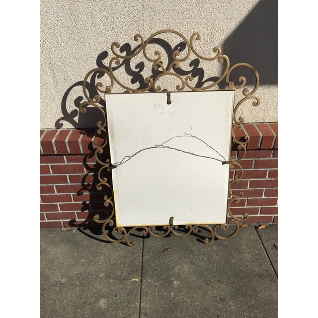 Kreiss Kreiss Mirror Malaga Wrought Iron For Sale - Image 4 of 5