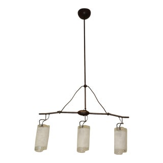 Mid-Century Handcrafted Murano Glass Pendant Lamp For Sale