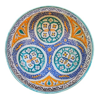 Afro-Moresque Ceramic Wall Plate For Sale