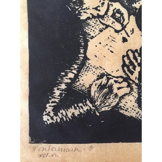 Vintage Fayga Ostrower Woodblock Print - Image 5 of 5