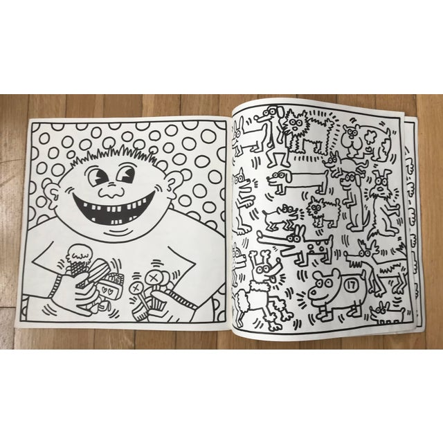 Illustration 1985 Vintage Keith Haring Coloring Book For Sale - Image 3 of 9