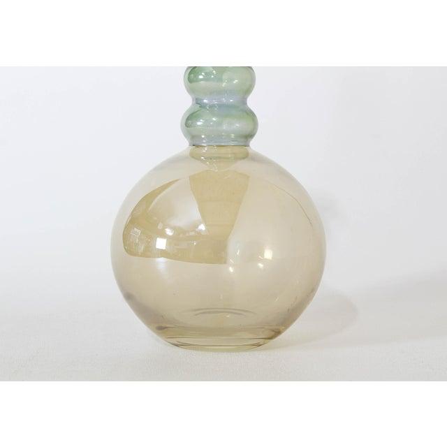 Mid-Century Modern Vintage Decorative Glass Vase For Sale - Image 3 of 7