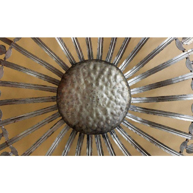 Very Large and Unusual Sunburst Ceiling Fixture - Image 6 of 8