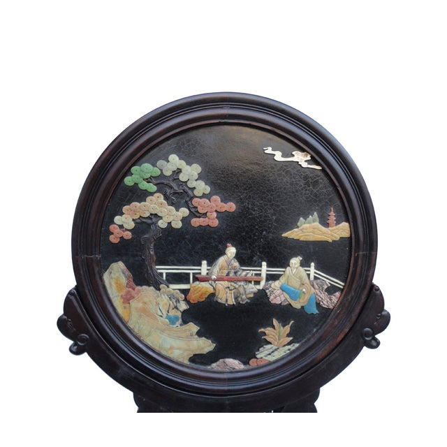 Oriental Tabletop Display Plaques- A Pair For Sale - Image 5 of 9