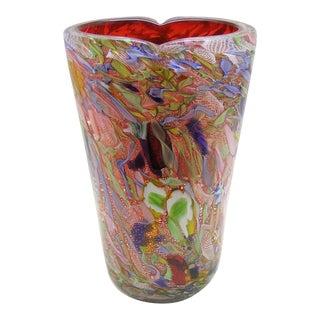 Anzolo Fuga Bisanzio Murano Venetian Glass Vase Mid Century Modern