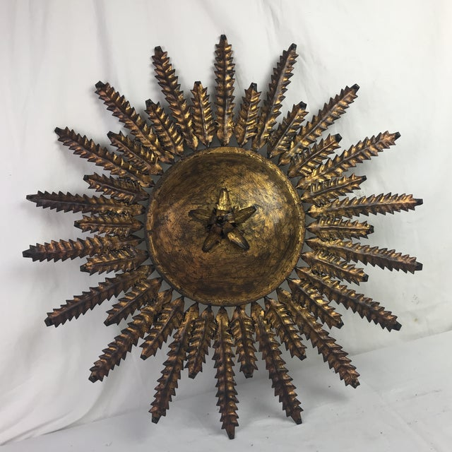 French Electrified Gilt Sunburst - Image 4 of 4