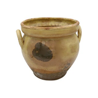 Antique French Stoneware Confit Pot For Sale