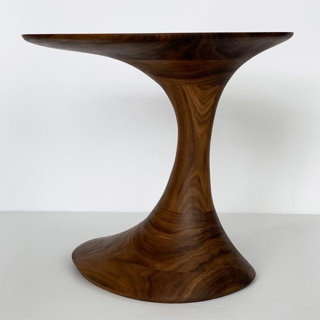 """Wood Sculptural Solid Walnut """"Pedem"""" Side Table Morten Stenbaek - A Pair For Sale - Image 7 of 13"""