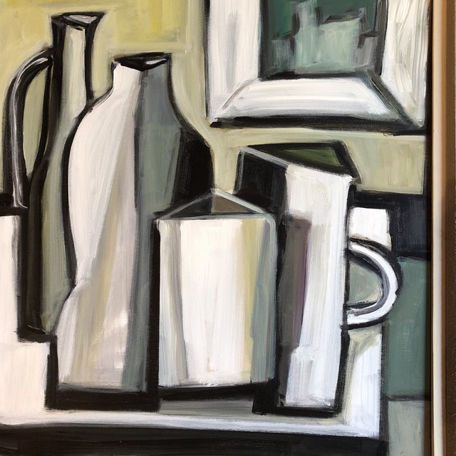 Expressionism Original Stewart Ross Modernist Still Life Painting For Sale - Image 3 of 6