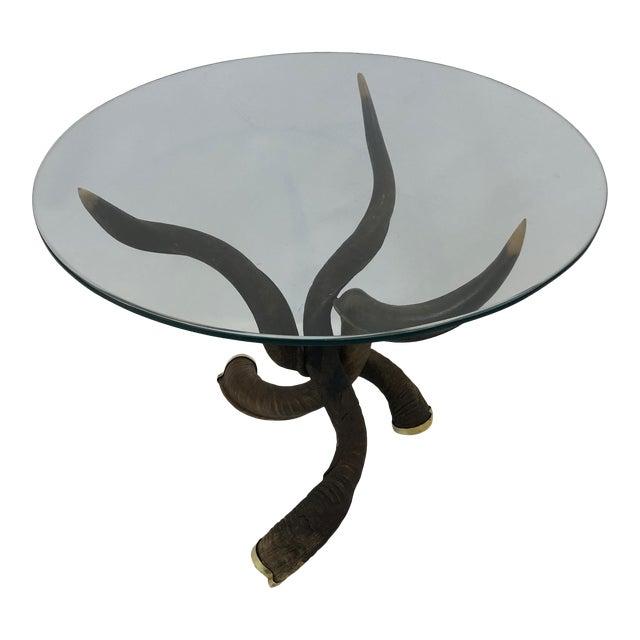 Organic Handmade Kudo Horn Based Coffee Table For Sale