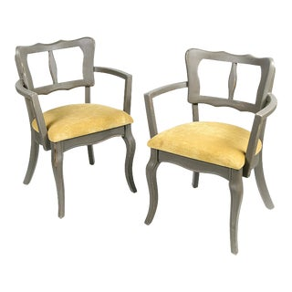 French Country Style Chairs - A Pair For Sale