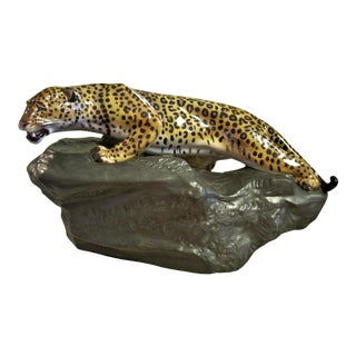 1980s Vintage Royal Doulton Leopard Figurine For Sale
