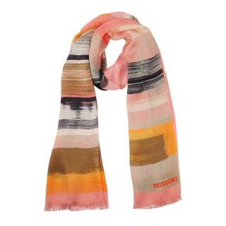 Missoni Extra Long Silk Scarf For Sale