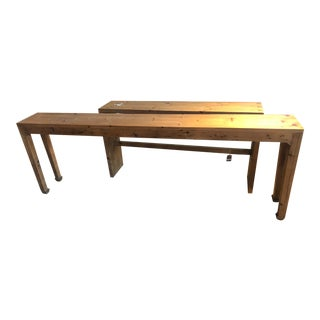 Rustic Natural Wood Console Table