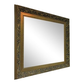 Antique Style Gold Wall Mirror For Sale