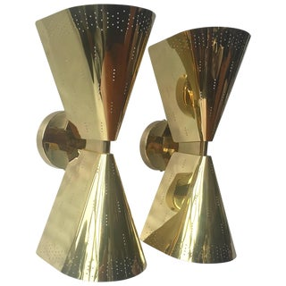 Pair of Wall Lights in Paavo Tynell Style For Sale
