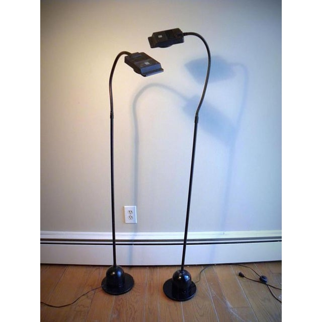 Vintage Modern Electrix Halogen Reading Library Floor Lamps - A Pair For Sale - Image 10 of 10