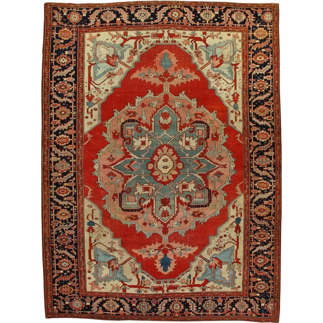 Antique Serapi Rug For Sale