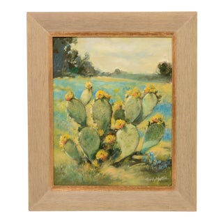 Salinas Cactus Framed Painting For Sale