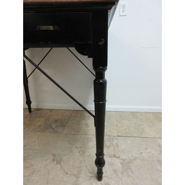 Paint Antique Victorian Primitive Slant Top Plantation Writing Desk For Sale - Image 7 of 11