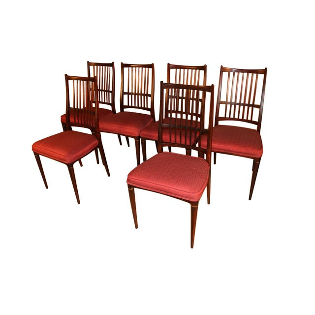 Mid-Century Modern 6 Svante Skogh Rosewood Cortina Dining Chairs For Sale - Image 3 of 13