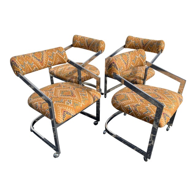 1980s Vintage Design Institute of America Chairs - Set of 4 For Sale