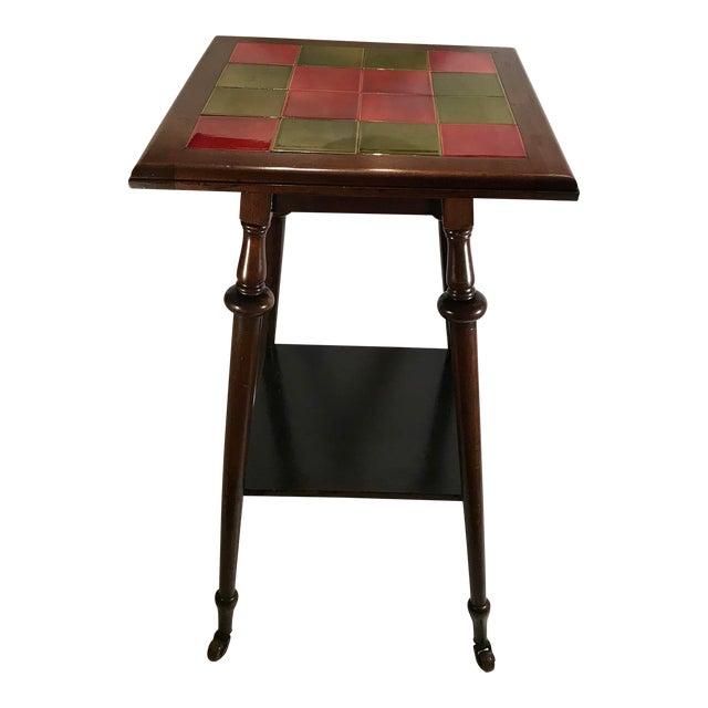 Antique Tile Top Pub Table For Sale
