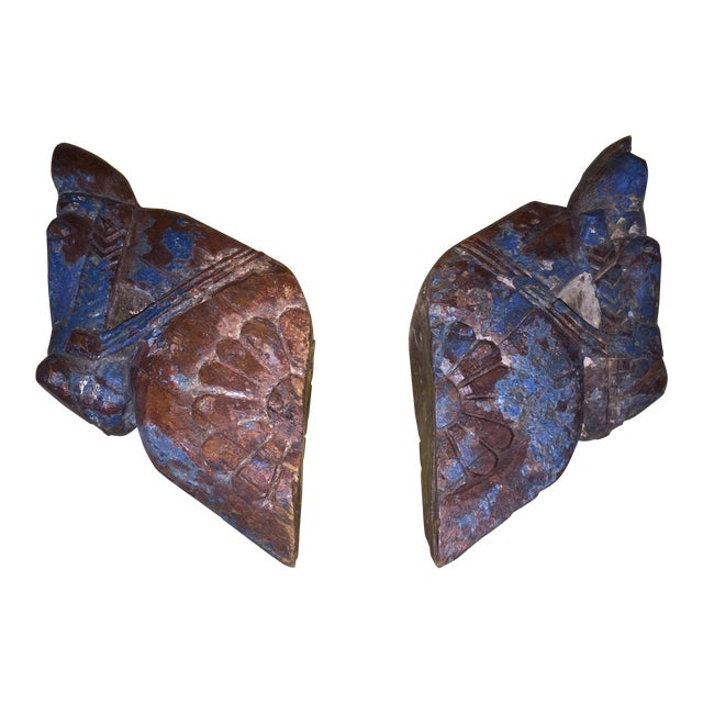 18th Century Rajput Horse Heads - a Pair - Image 1 of 11