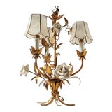Image of 1920's Vintage French Toleware 3 Lite Chandelier For Sale