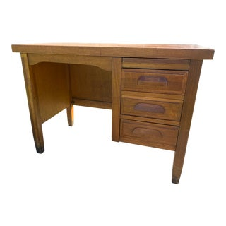 1930's Vintage Child's Oak Desk For Sale